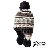 【PolarStar】童 花色造型覆耳保暖帽『黑』P17622 毛球帽 針織帽 毛帽 毛線帽 帽子