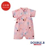 DOUBLE_B 日本製 棕櫚樹鳳梨印圖浴衣
