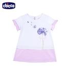chicco-芭蕾舞者-條紋剪接短袖洋裝