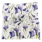 Sybilla 百合花葉印花純綿帕領巾(紫色)989164-23