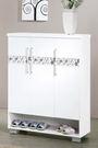 【森可家居】威爾納3尺白色三門鞋櫃 7JF308-2 簡約