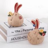 家居裝飾品 可愛胖兔子擺件客廳室內臥室桌面裝飾品小擺設房間小飾品【快速出貨八折下殺】