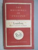 【書寶二手書T9/原文小說_MPA】The Buildings of England-London
