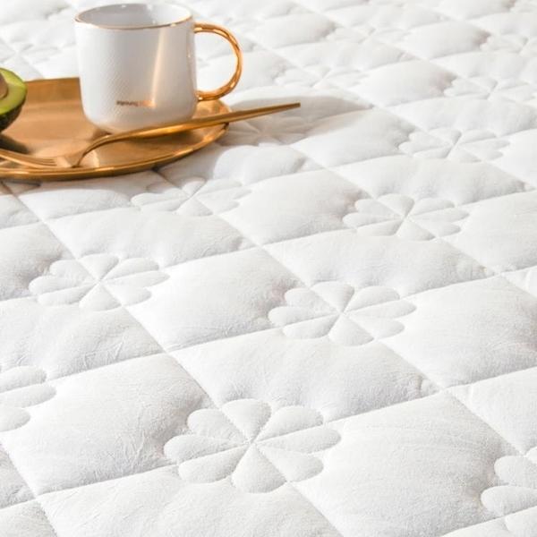 良品純棉床笠單件加棉防滑固定床包床墊保護套罩白色夾棉床套床罩