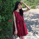 洋裝 2020夏季上衣超仙女裙森系甜美無袖顯瘦連身裙女 韓慕精品