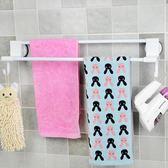 衛生間毛巾架免打孔 毛巾掛架掛鉤吸盤毛巾掛桿 吸盤式雙桿毛巾架
