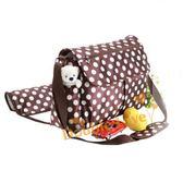 媽媽包 分隔袋 收納袋 【MA0037】波爾卡圓點時尚防水媽媽包/媽咪包/斜背包/肩背包二款