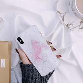 iPhoneX手機殼 可掛繩 粉紅閃粉奔馬 矽膠軟殼 蘋果iPhone8X/iPhone7/6Plus