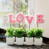仿真盆栽 家居現代假花仿真花卉小盆景綠植物盆栽裝飾品工藝品迷你擺件創意 交換禮物