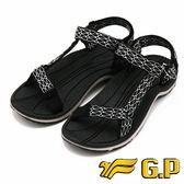 【G.P】時尚休閒涼鞋 女鞋-黑灰色(另有水藍、桃)
