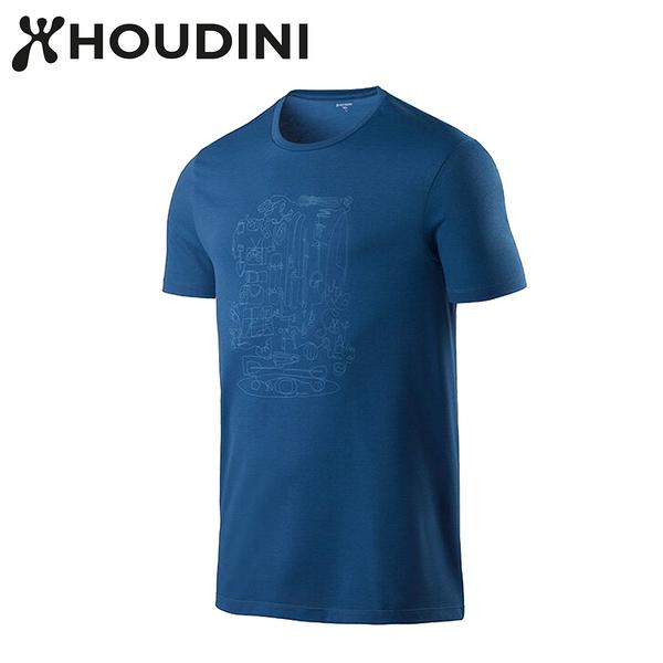 瑞典【Houdini】M`s Big Up Message Tee 天然藍  237894