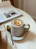咖啡杯碟套裝歐式小奢華咖啡杯碟套裝復古茶具日式簡約粗陶瓷掛耳拉花咖啡杯 雲朵