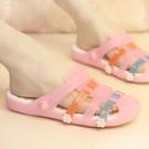 洞洞鞋 2021新款可愛公主防滑涼鞋女孩夏季沙灘洞洞鞋女童親子果凍涼拖鞋 歐歐