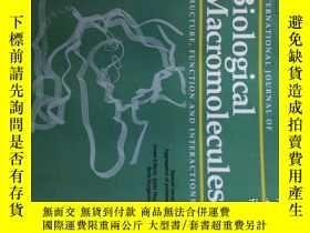 二手書博民逛書店International罕見Journal of Biological Macromolecules 07 20