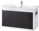 【台灣吉田】LOP-8300 101cm全發泡桶身/鋼琴烤漆/水晶面板/內崁式面紙盒 浴櫃組