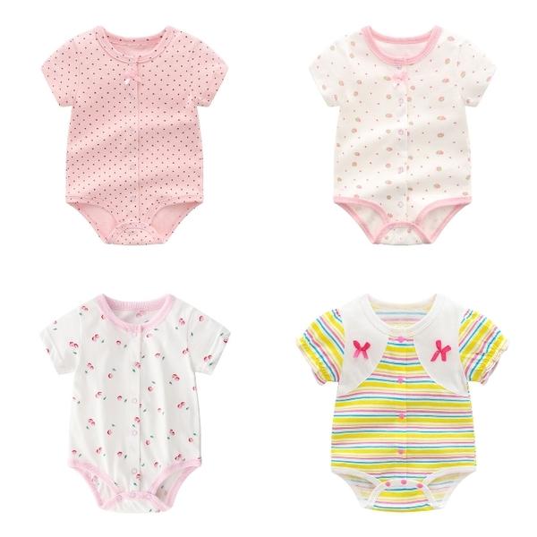 短袖連身衣 包屁衣連身裝 棉質嬰兒服 兔裝 寶寶童裝 NT2127 好娃娃