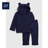 Gap男女嬰兒長袖連帽運動服套裝513702-海軍藍色