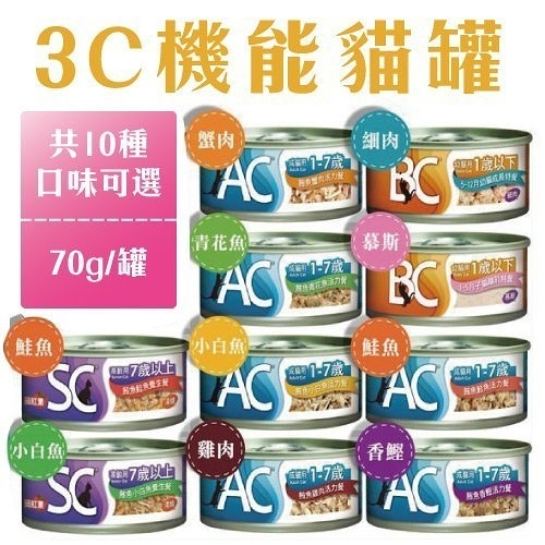 *WANG*【單罐】3C機能貓罐70g-共10種口味可選