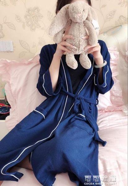 男女情侶款浴袍  簡約版 秋款全棉 可可鞋櫃