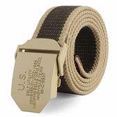 皮帶  帆布腰帶自動平滑扣編織加長韓版 米蘭shoe