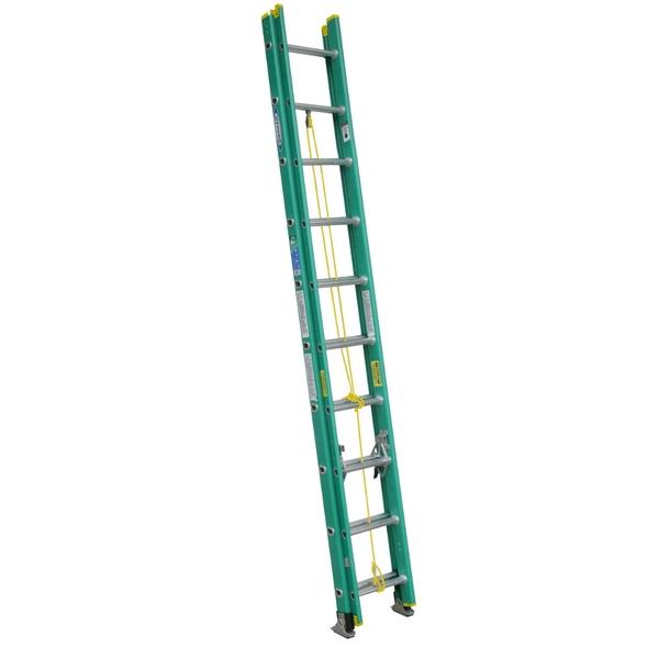 美國Werner穩耐絕緣梯-D5920-2 玻璃鋼2節伸縮梯(梯長3.1m,最大延伸長度5.2m) FRP拉梯 進口梯