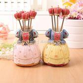 歐式水果叉不繡鋼水果叉子韓國家用兒童創意可愛水果叉套裝甜品叉  瑪奇哈朵