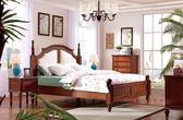[紅蘋果傢俱] SA109 新美式鄉村風 歐式床 六尺床 床架 床台 雙人床 多功能櫃 床頭櫃 工廠直營