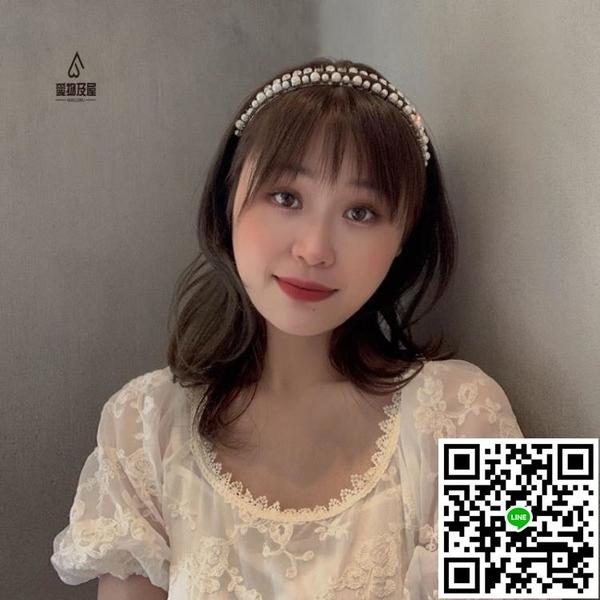 雙排水鉆高級感髮箍韓國小眾潮個性冷淡風氣質髮卡頭飾【樂淘淘】