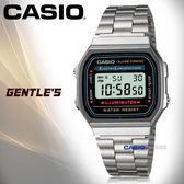 CASIO手錶專賣店 卡西歐  A168WA-1  男錶 數字電子錶 生活防水 EL冷光照明 不繡鋼錶帶