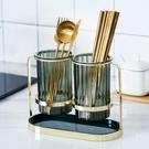 北歐筷子筒家用廚房筷子置物架 餐具收納盒瀝水筷筒筷桶 一米陽光