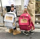帆布韓版雙肩包男背包電腦包學院風大學生書...