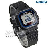 CASIO卡西歐 LA-20WH-1C 復古風百搭方形電子錶 女錶 兒童錶 防水手錶 LED照明 黑 LA-20WH-1CDF