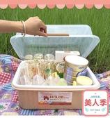 奶瓶收納箱奶瓶防塵收納箱 帶蓋 餐具用品儲存盒密封箱晾奶瓶干燥架JY-『美人季』