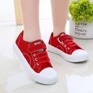 兒童帆布鞋男童鞋春季新款女童小白球鞋休閒運動寶寶鞋軟底潮 快速出貨