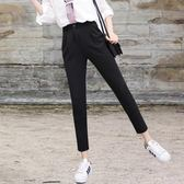 哈倫褲女九分褲新款韓版大碼寬鬆學生百搭休閒小腳西裝褲子夏 9號潮人館