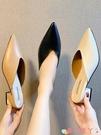 穆勒鞋網紅包頭半拖鞋女2021新款時尚外穿粗跟涼拖鞋尖頭懶人中跟穆勒鞋 愛丫 新品