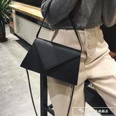 韓版小包包女2018新款潮簡約復古chic鏈條包百搭單肩斜挎包信封包『韓女王』