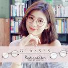 韓國復古甦醒細邊金屬圓框平光眼鏡【G00...