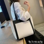 大包包女包新款潮韓版百搭時尚單肩包ins風大容量學生托特包 晴天時尚