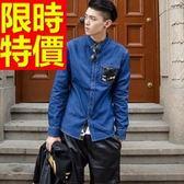 迷彩 上衣細緻熱銷-明星同款韓風棉質長袖男襯衫 1色62j32[時尚巴黎]