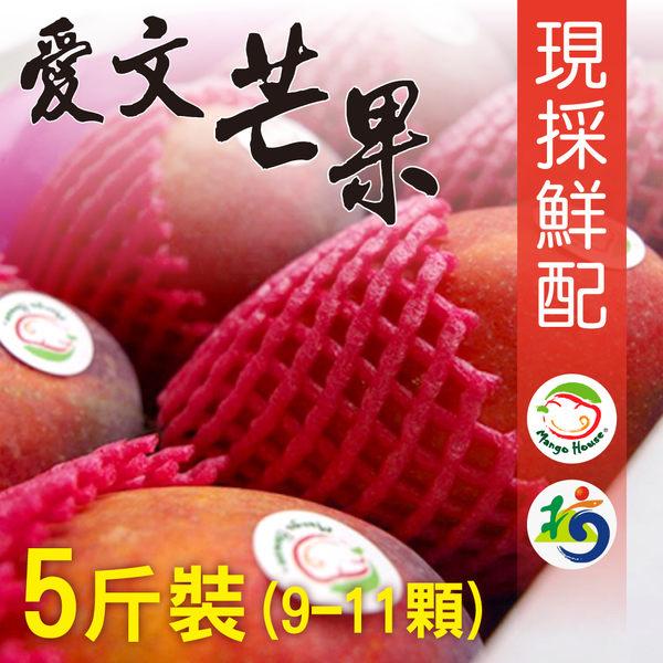 【MANGO HOUSE】枋山愛文芒果5斤/盒(9~11顆) 輸日等級 擁有生產追溯碼