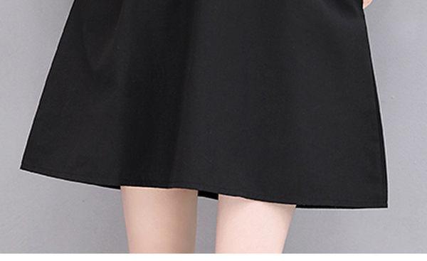 找到自己 G5 韓國時尚 夏季 短袖 蝴蝶刺繡 蕾絲 連身裙