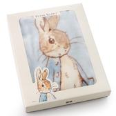 【奇哥】Peter Rabbit比得兔抗菌嬰兒帽帶毯 (藍)