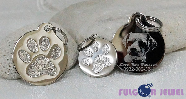 FU飾品 鋼飾 客製化 可愛腳印 西德鋼 寵物吊牌【Fulgor Jewel】免費雕刻文字