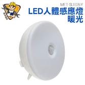 精準儀錶旗艦店暖光小夜燈光控感應燈紅外人體感應燈5 顆LED MET SLED5Y