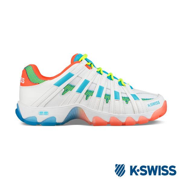 K-Swiss ST429休閒運動老爹鞋-男-白/橘/藍