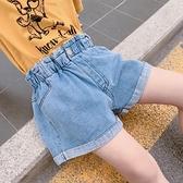 短褲 女童闊腿短褲夏季2021新款潮兒童洋氣破洞牛仔褲外穿女孩百搭褲子