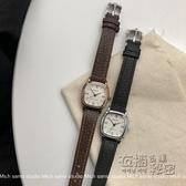 【三四】 chic復古方形小巧錶盤韓版簡約時尚皮帶錶手錶女學生 衣櫥秘密