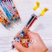 Disney迪士尼屁屁系列六色筆 原子筆 多色筆 油性筆 圓珠筆 唐老鴨款 COCOS JP099