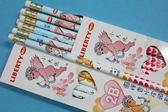 利百代小天使鉛筆 CB-102-2B 抗菌圓桿香水皮頭鉛筆(2B筆芯)/一小盒12支入{定60}